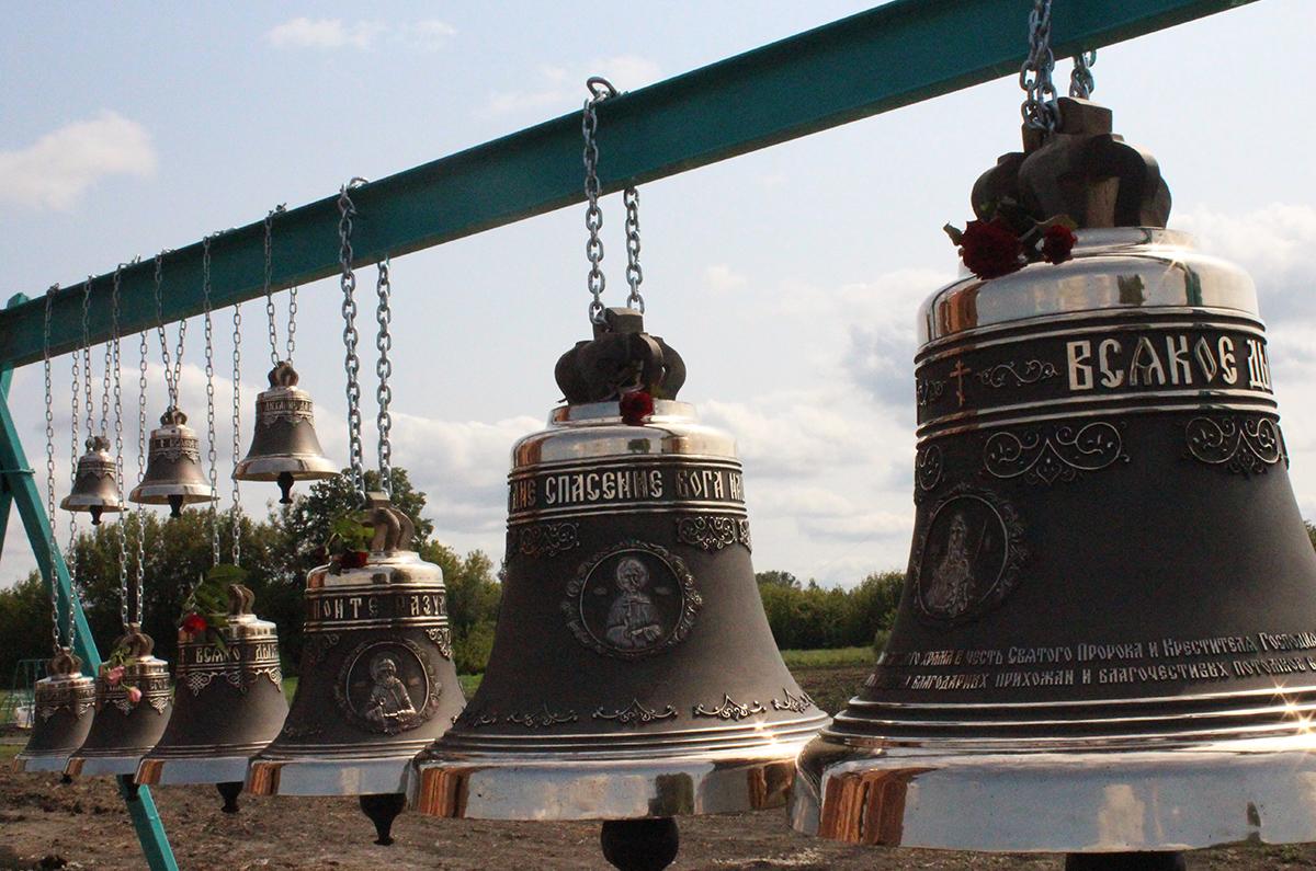 Освящение звонницы, Тамбовская область, село Еремеево Мичуринского района