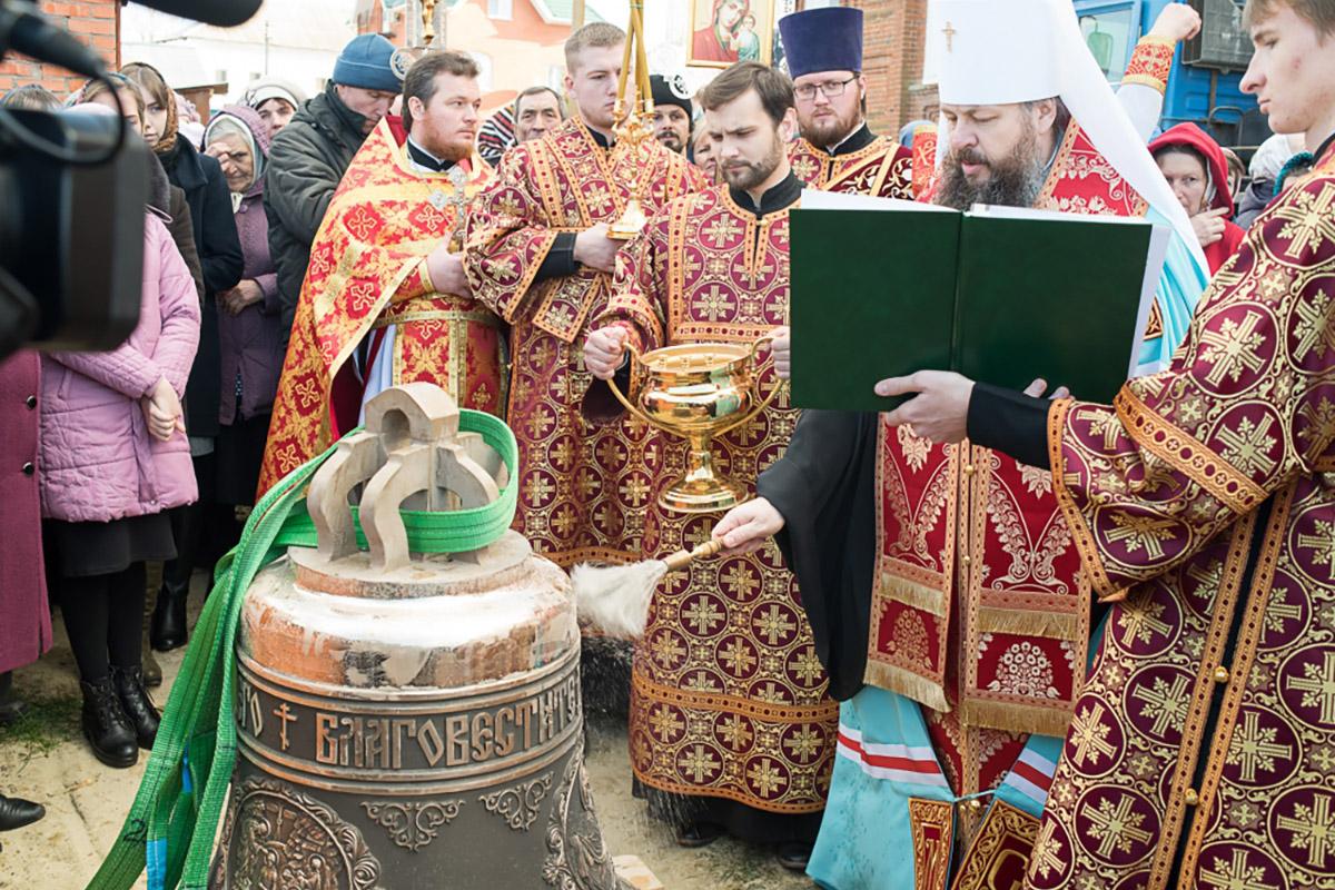 Колокол 700 кг для церкови Богоявления Господня, Пензенская область р. п. Мокшан